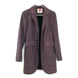 Free People Houndstooth Wool Blend Fitted Jacket